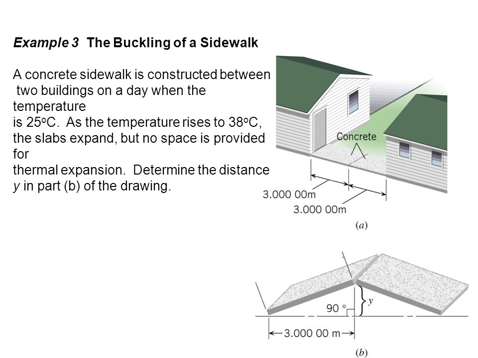 Example 3 The Buckling of a Sidewalk