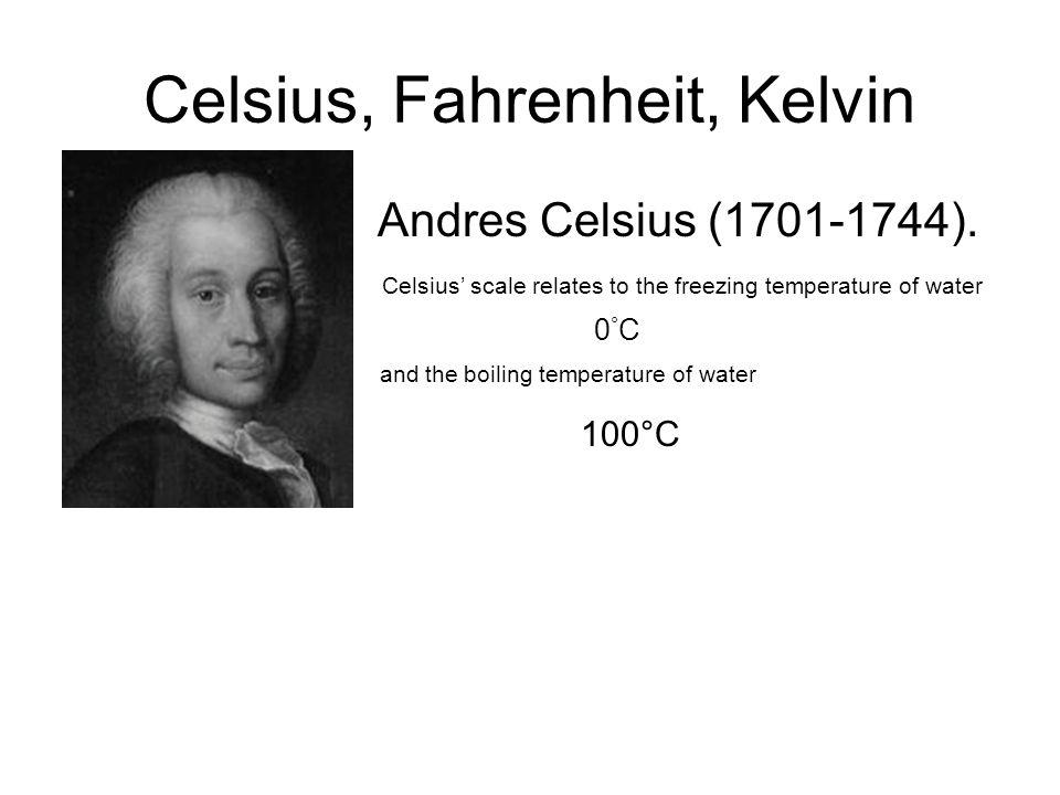 Celsius, Fahrenheit, Kelvin