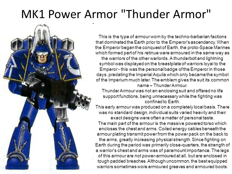 MK1 Power Armor Thunder Armor