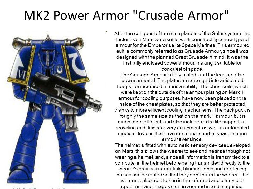 MK2 Power Armor Crusade Armor