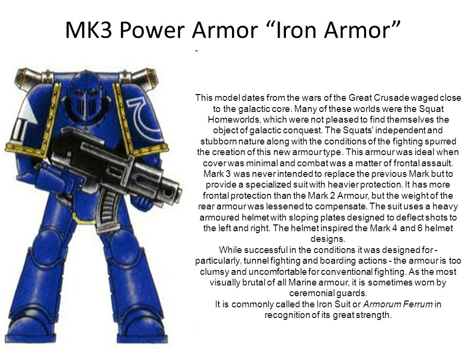 MK3 Power Armor Iron Armor