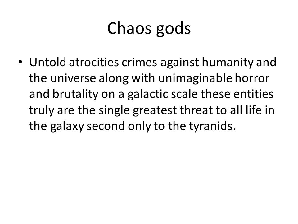 Chaos gods