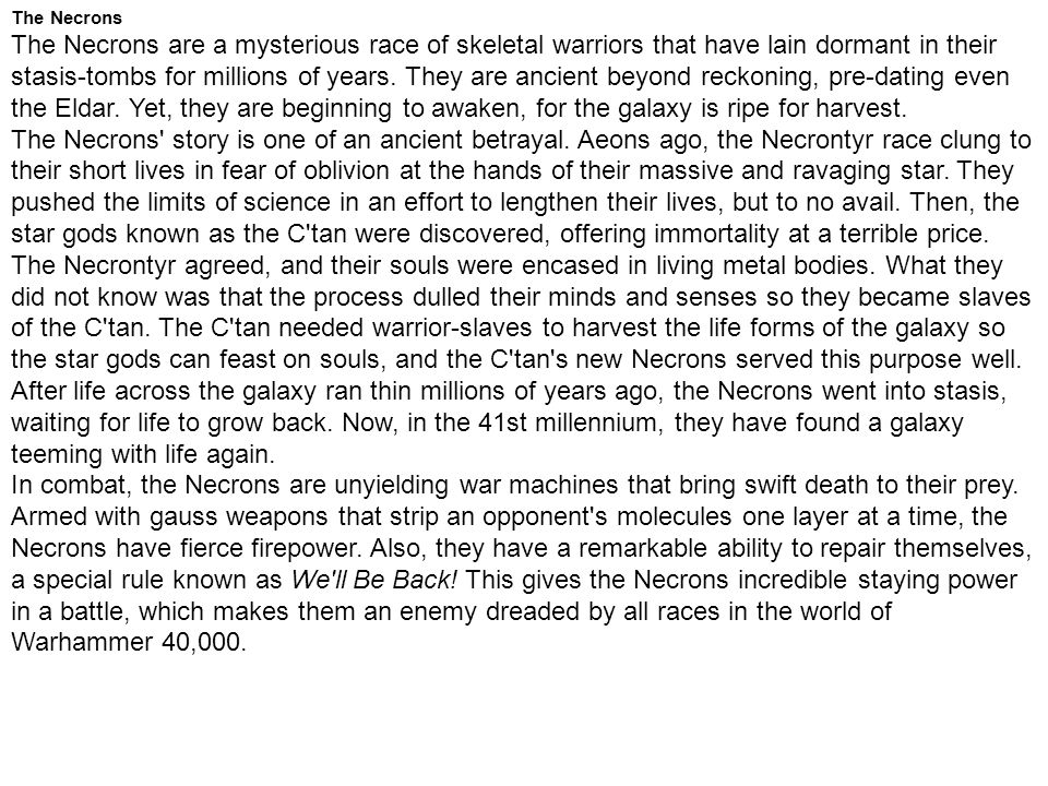 The Necrons