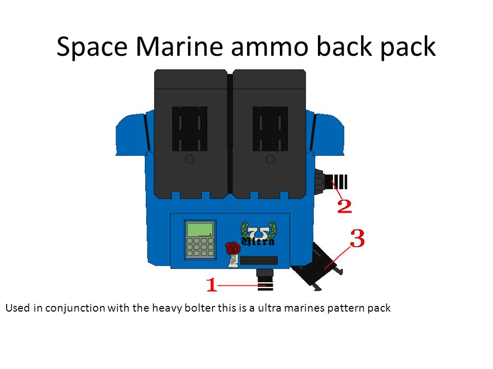 Space Marine ammo back pack