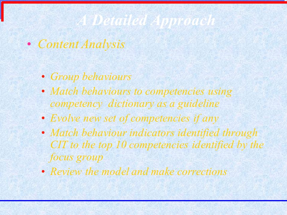 A Detailed Approach Content Analysis Group behaviours