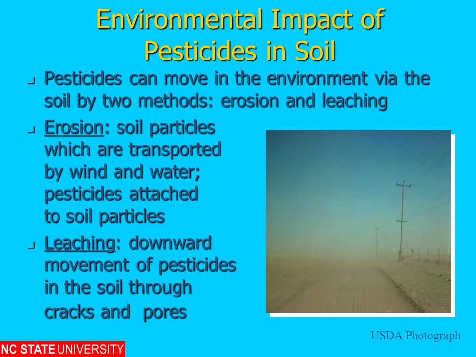 Environmental Impact of Pesticides in Soil