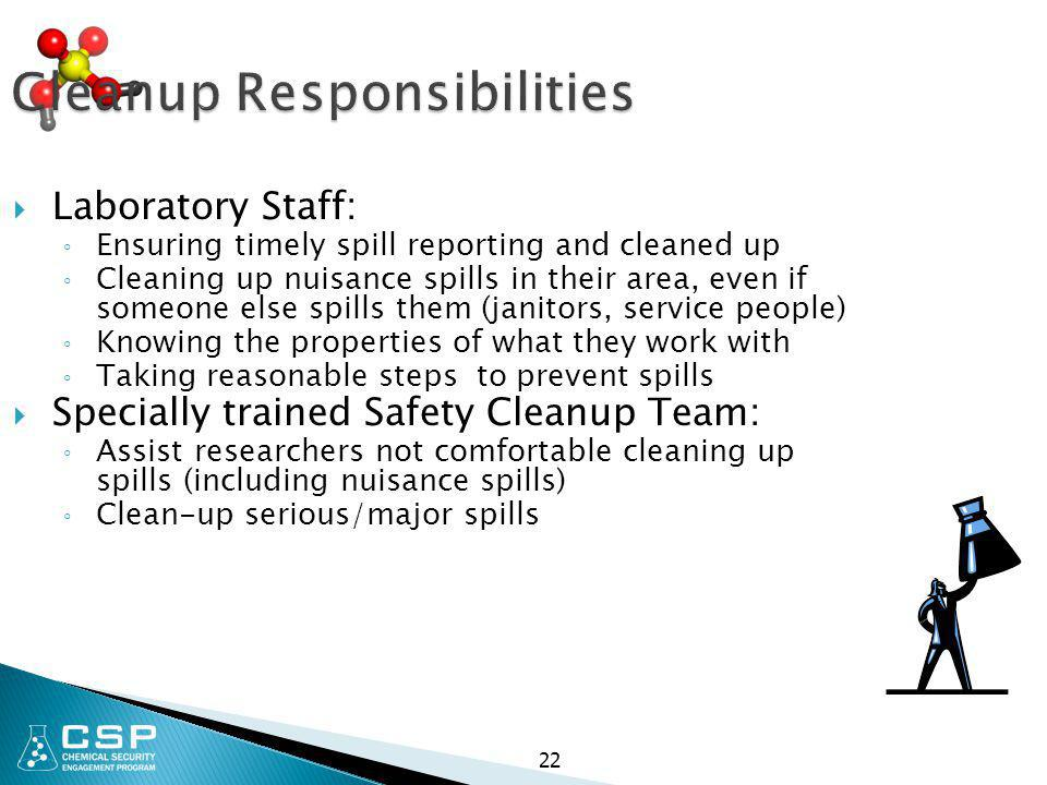 Cleanup Responsibilities