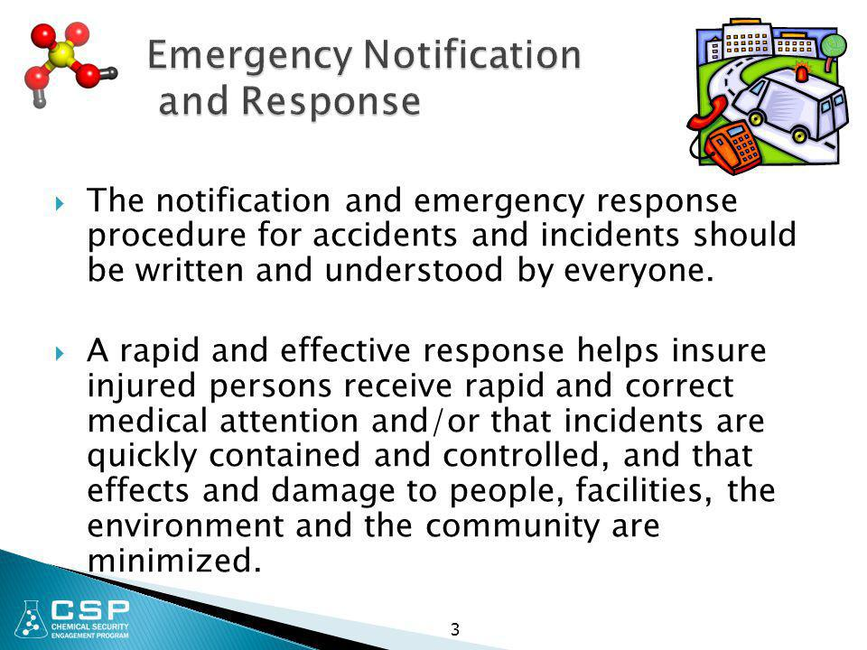 Emergency Notification and Response