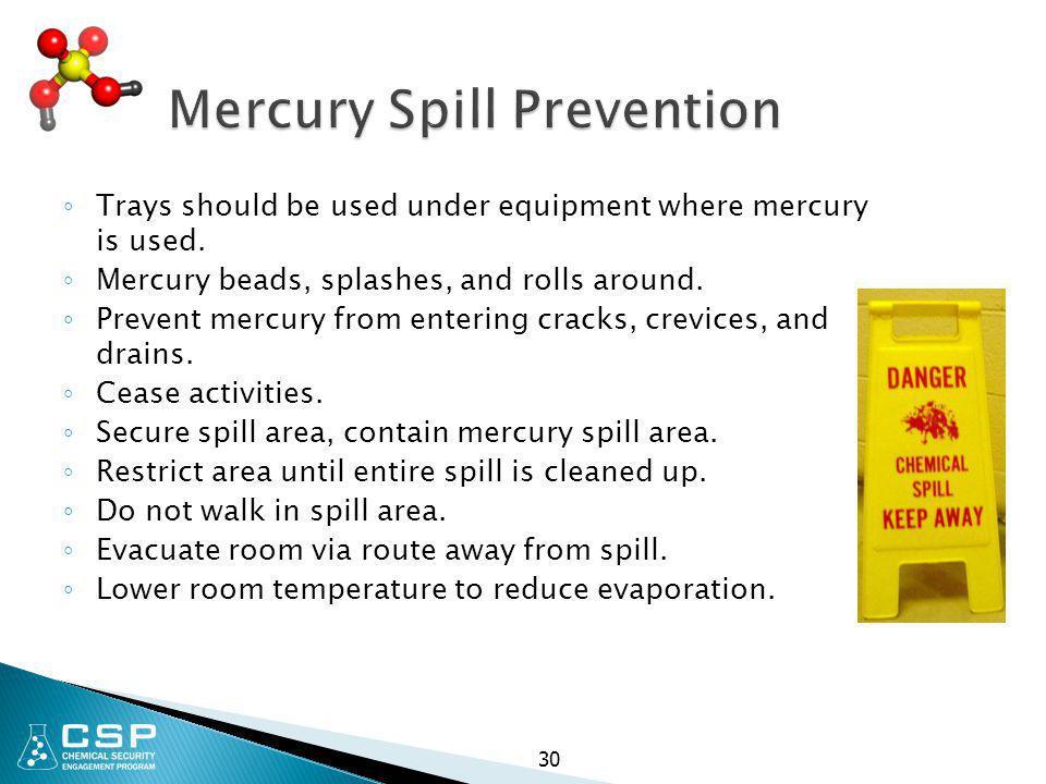 Mercury Spill Prevention