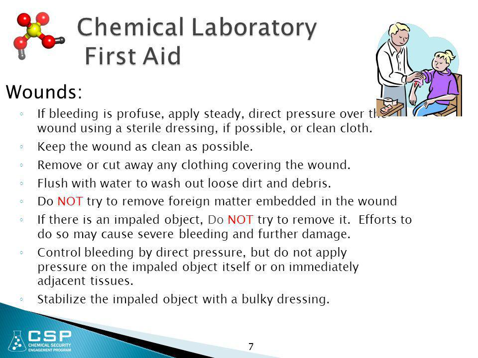 Chemical Laboratory First Aid