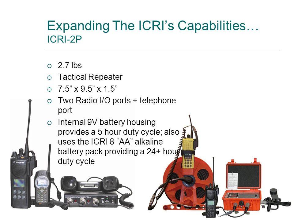 Expanding The ICRI's Capabilities… ICRI-2P