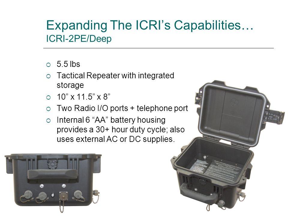 Expanding The ICRI's Capabilities… ICRI-2PE/Deep