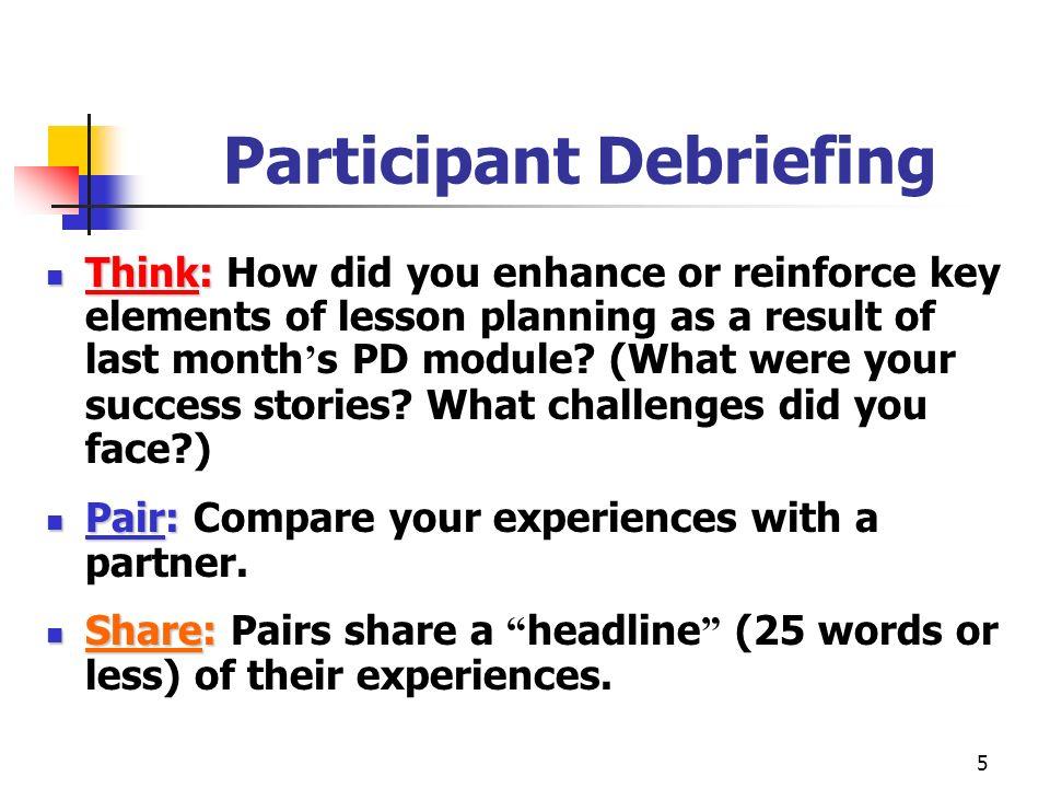 Participant Debriefing
