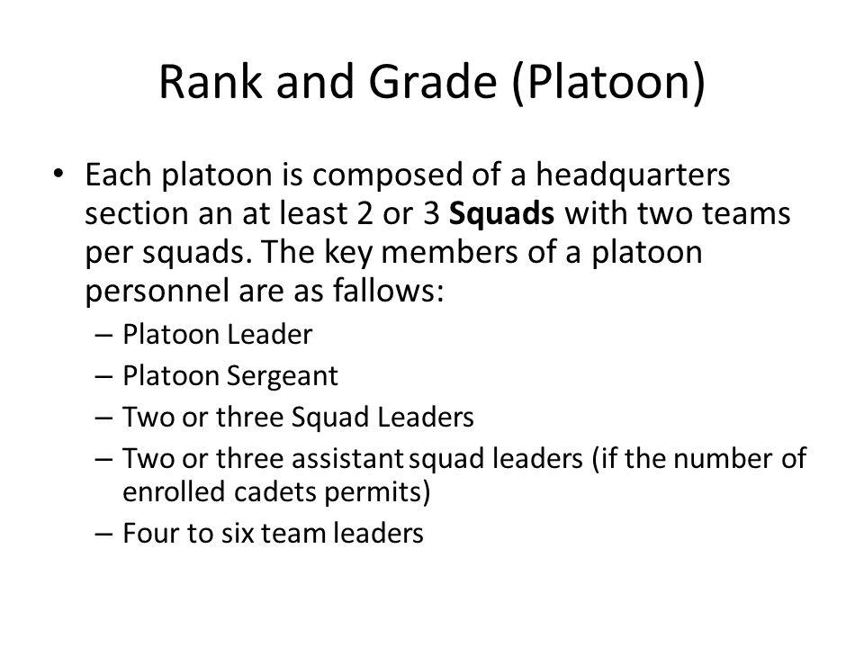 Rank and Grade (Platoon)