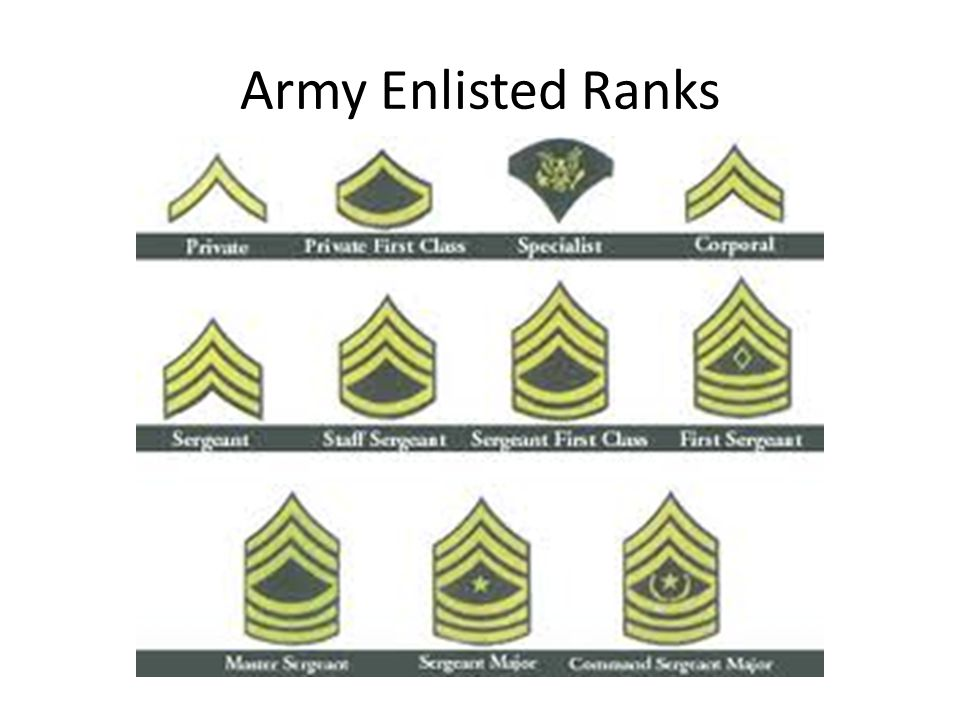 Army Enlisted Ranks