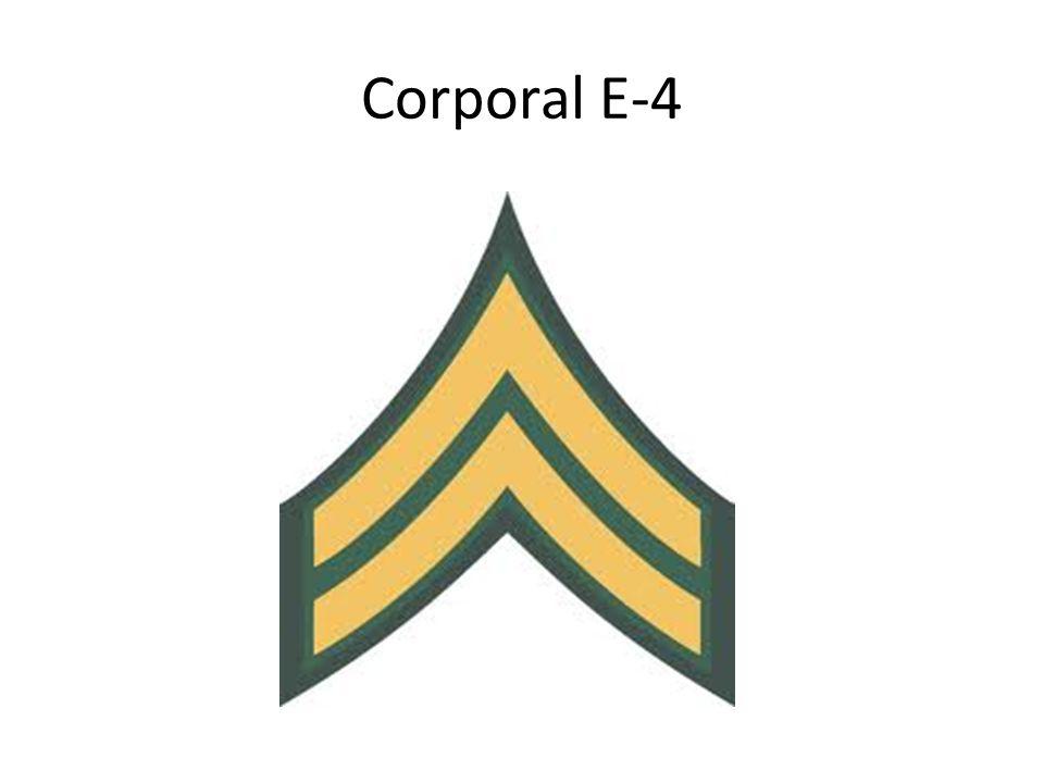 Corporal E-4