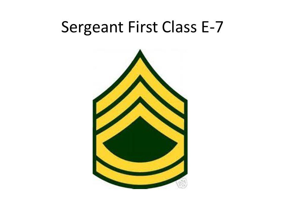 Sergeant First Class E-7
