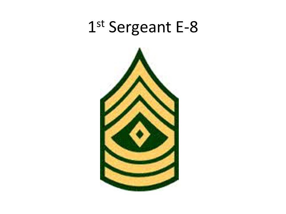 1st Sergeant E-8