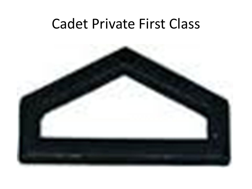 Cadet Private First Class