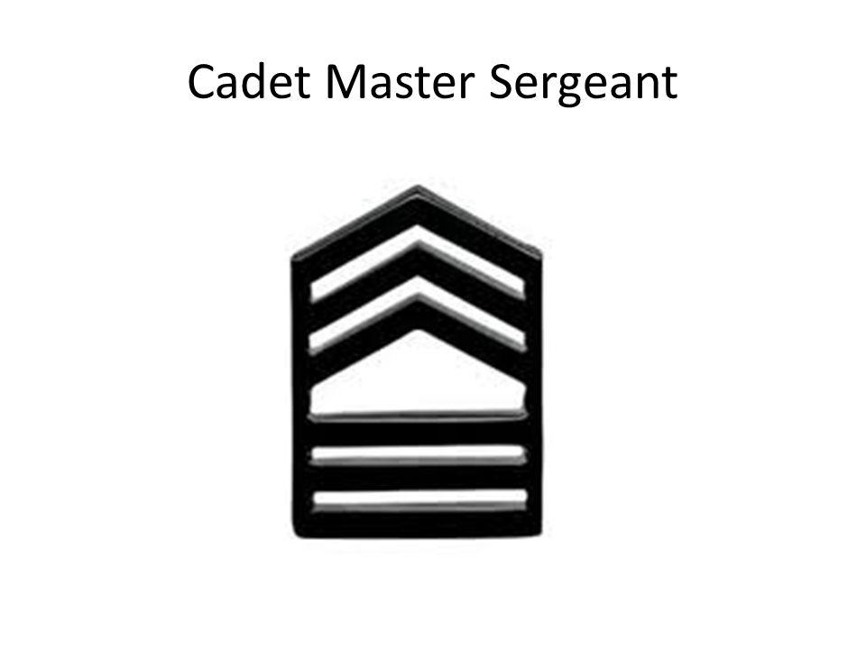 Cadet Master Sergeant