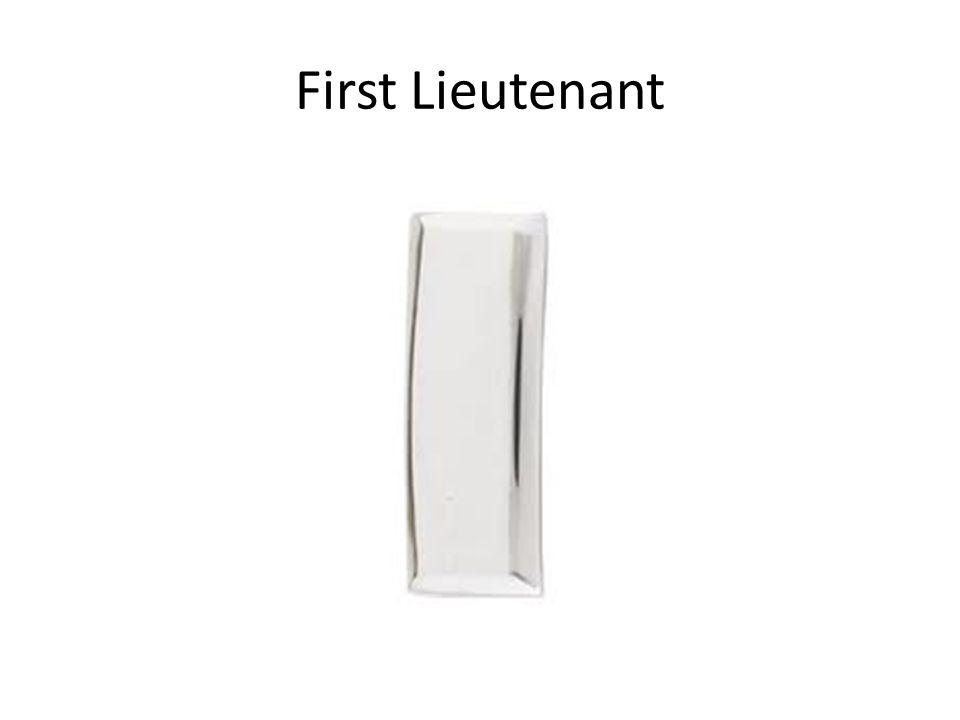First Lieutenant