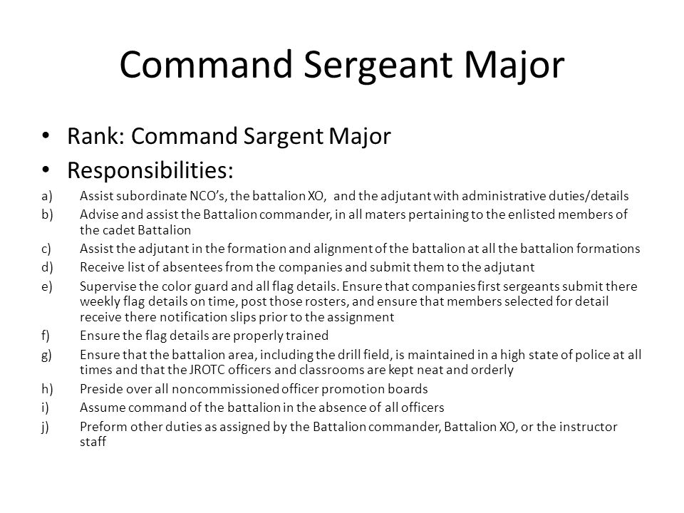 Command Sergeant Major