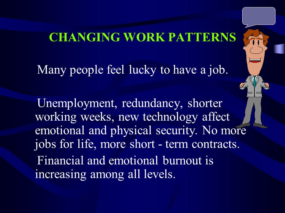 CHANGING WORK PATTERNS