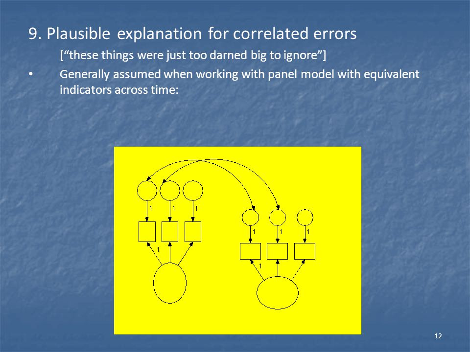 9. Plausible explanation for correlated errors