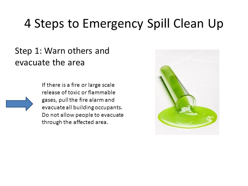 4 Steps to Emergency Spill Clean Up