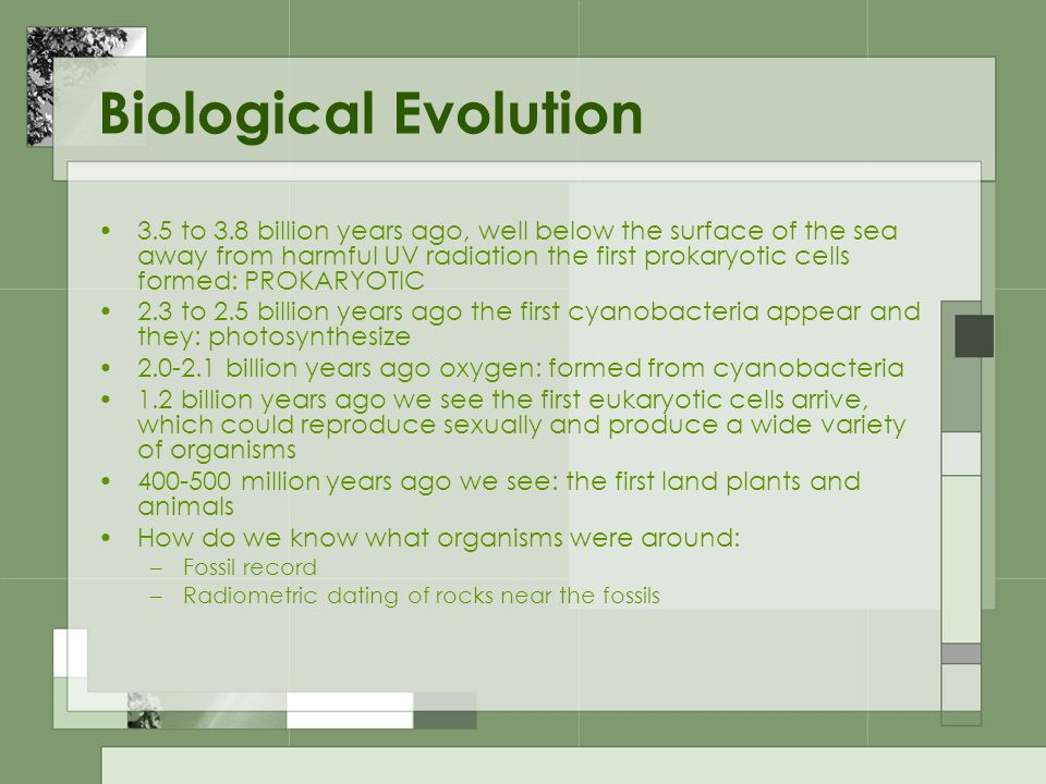 Biological Evolution