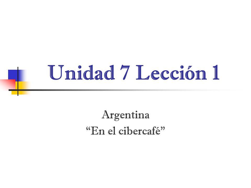 Argentina En el cibercafé