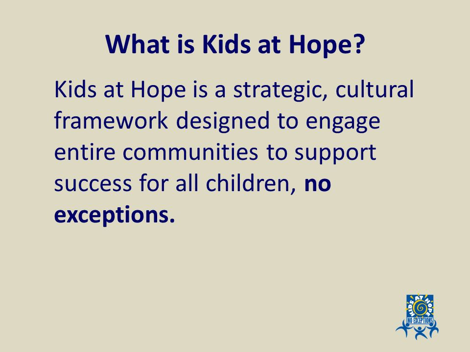 What is Kids at Hope