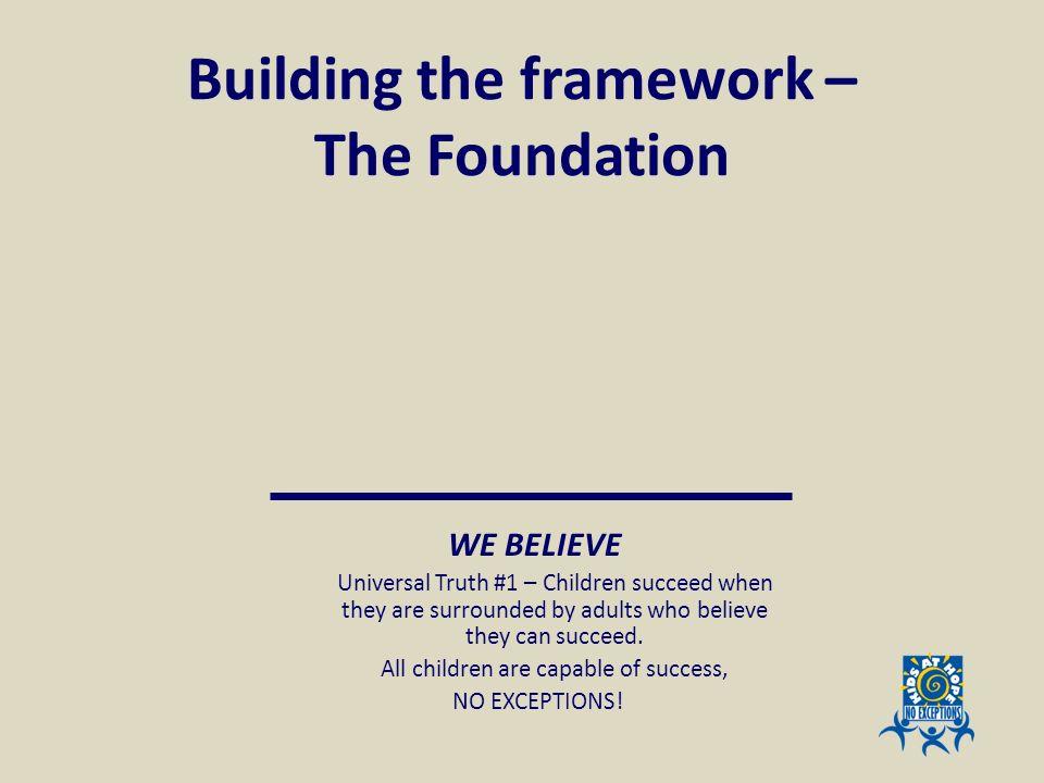 Building the framework – The Foundation