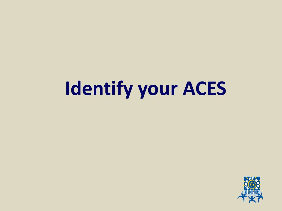 Identify your ACES Activity page 17 – identify your aces by type