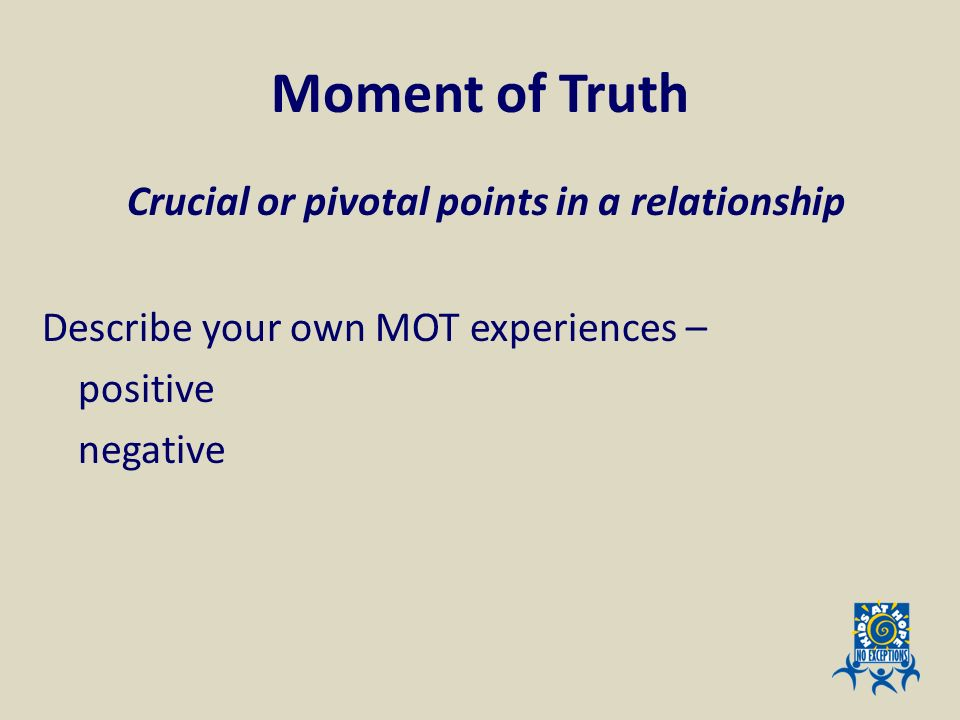 Crucial or pivotal points in a relationship