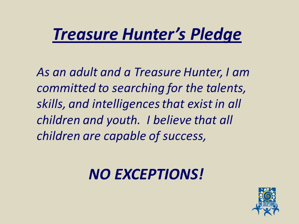 Treasure Hunter's Pledge