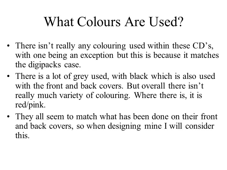 What Colours Are Used
