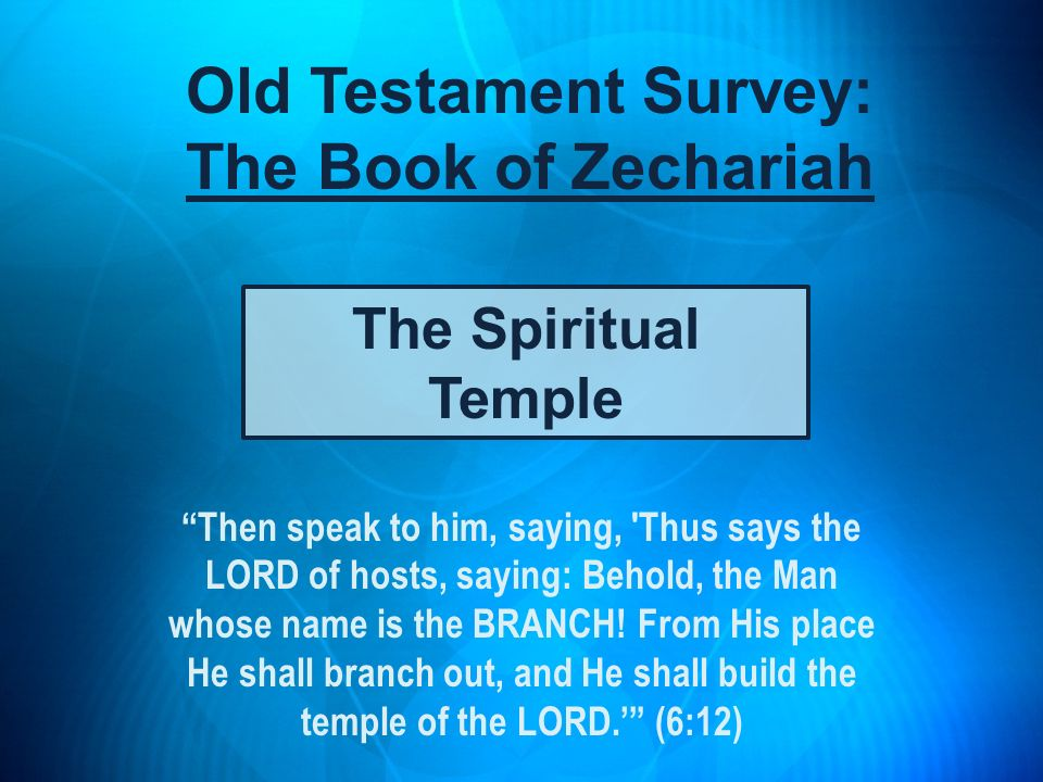 Old Testament Survey: The Book of Zechariah
