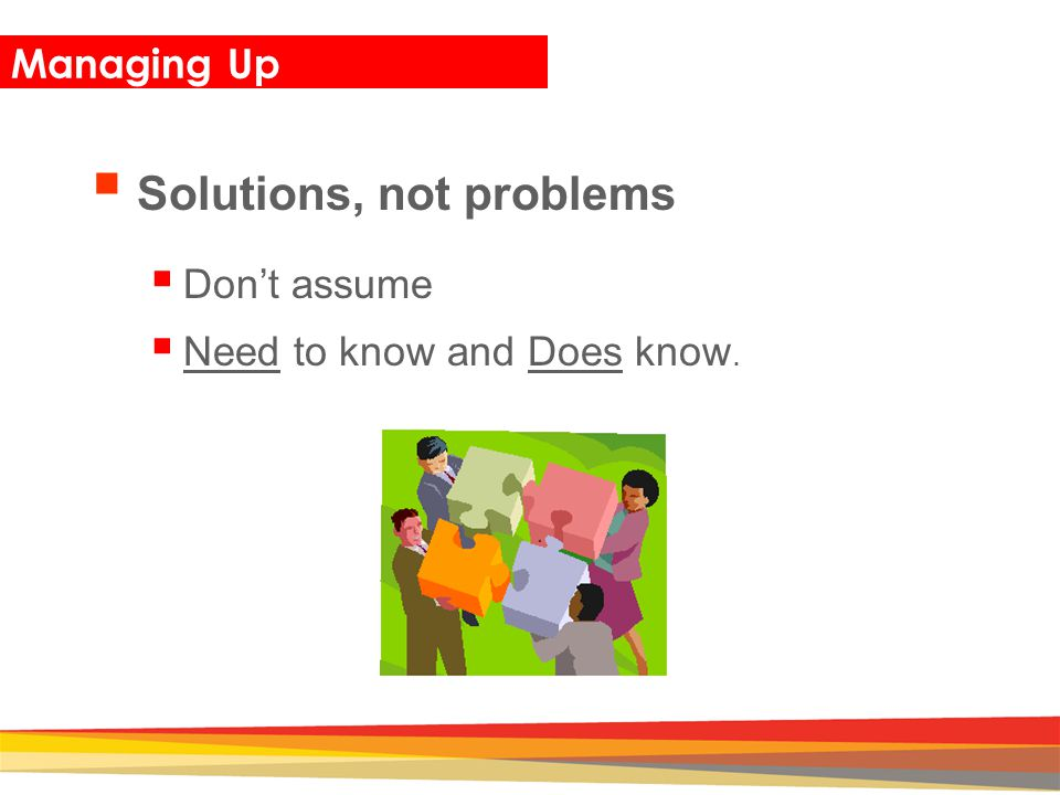 Solutions, not problems