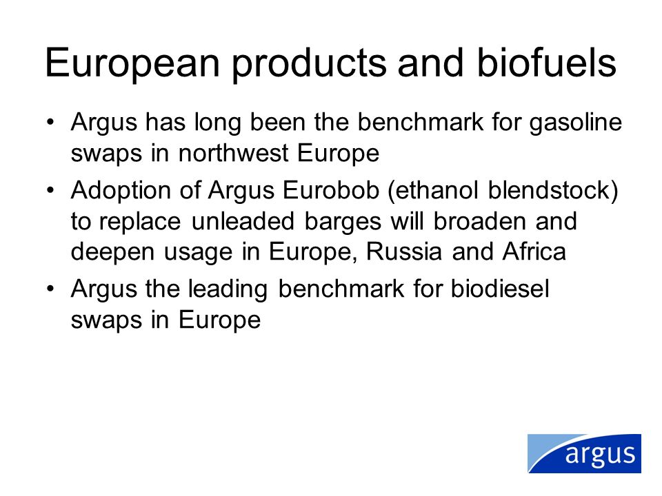 European products and biofuels