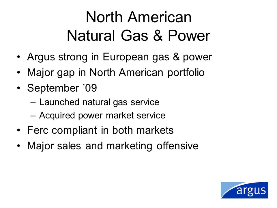 North American Natural Gas & Power