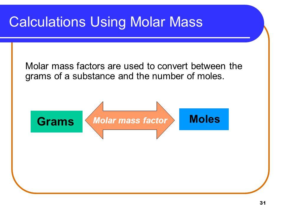 Calculations Using Molar Mass