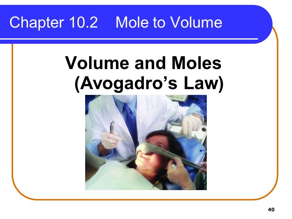 Volume and Moles (Avogadro's Law)