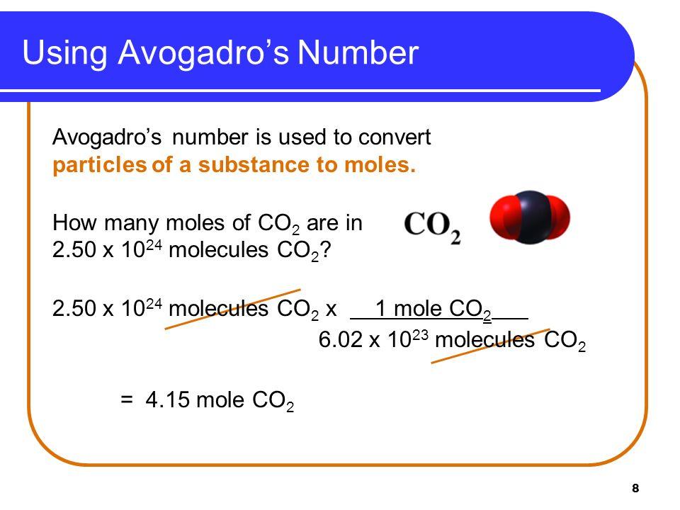 Using Avogadro's Number