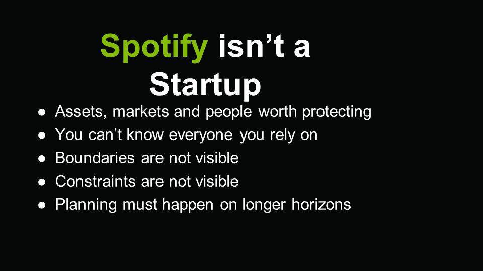 Spotify isn't a Startup