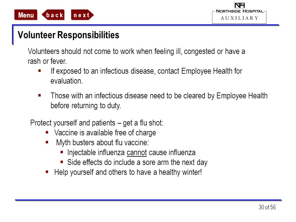 Volunteer Responsibilities