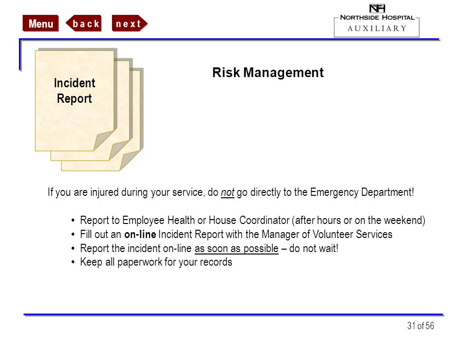 Incident Risk Management Report