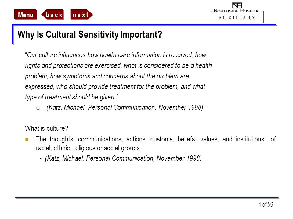 Why Is Cultural Sensitivity Important