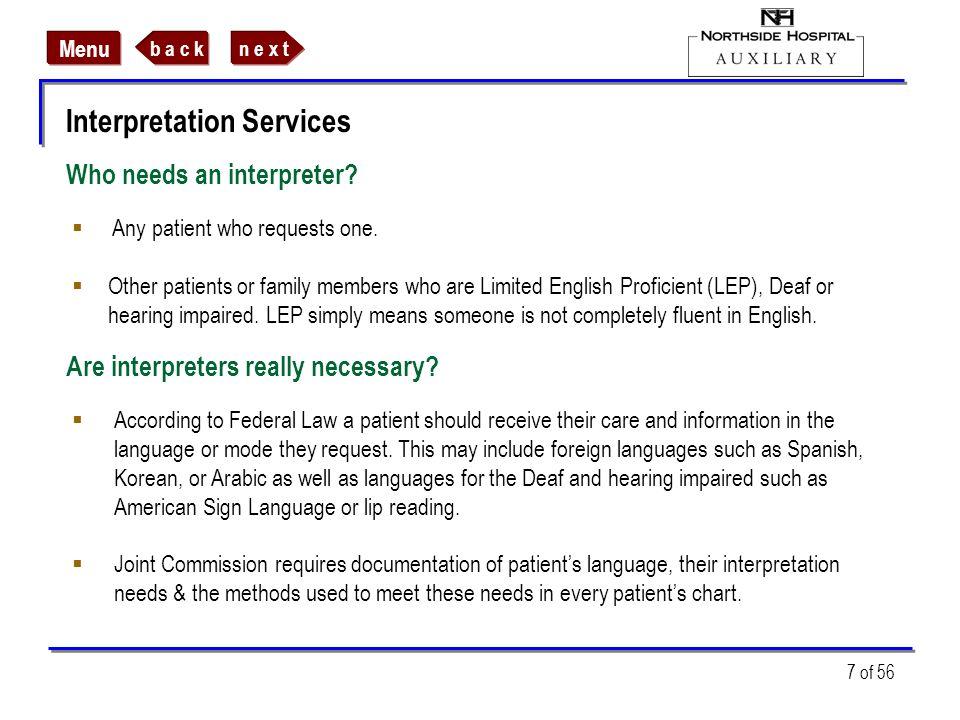 Who needs an interpreter