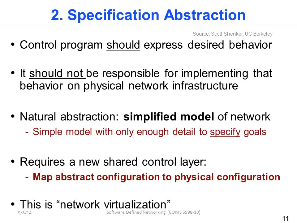 2. Specification Abstraction